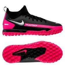 Nike Phantom GT Academy DF TF - Sort/Sølv/Pink Børn