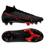 Nike Mercurial Superfly 7 Elite FG Black X Chile Red - Noir/Gris/Rouge