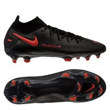 Nike Phantom GT Elite DF FG Black X Chile Red - Sort/Rød/Grå
