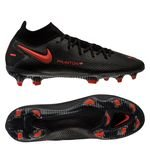 Nike Phantom GT Elite DF FG Black X Chile Red - Schwarz/Chile Rot/Dark Smoke Grau