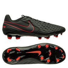 Nike Tiempo Legend 8 Academy MG Black X Chile Red - Sort/Rød/Grå