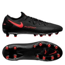 Nike Phantom GT Pro AG-PRO Black X Chile Red - Sort/Rød/Grå