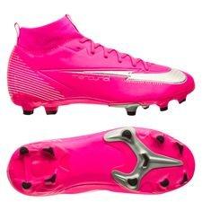 Nike Mercurial Superfly 7 Academy MG Mbappé Rosa - Pink/Hvid/Sort Børn