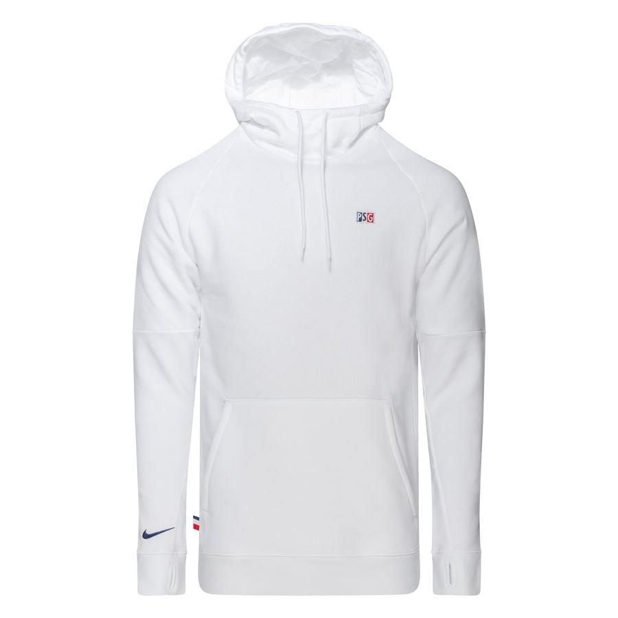 Paris Saint-Germain Fleece Hættetrøje - Hvid thumbnail