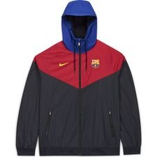 Barcelona Vindjacka Woven Authentic - Svart/Bordeaux/Gul