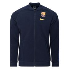 Barcelona Track Jacka Fleece - Navy/Gul