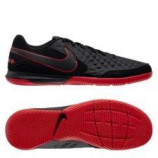 Nike Tiempo Legend 8 Academy IC Black X Chile Red - Sort/Rød/Grå