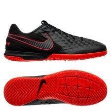Nike Tiempo React Legend 8 Pro IC Black X Chile Red - Sort/Rød/Grå
