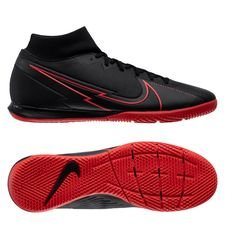 Nike Mercurial Superfly 7 Academy IC Black X Chile Red - Sort/Rød/Grå
