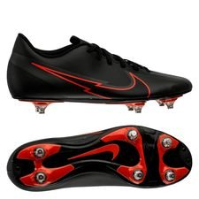 Nike Mercurial Vapor 13 Club SG Black X Chile Red - Sort/Rød/Grå