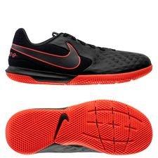 Nike Tiempo Legend 8 Academy IC Black X Chile Red - Schwarz/Chile Red/Dark Smoke Grey Kinder