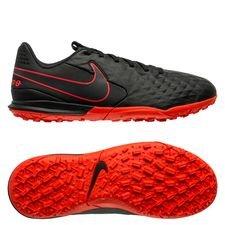 Nike Tiempo Legend 8 Academy TF Black X Chile Red - Sort/Rød/Grå Børn