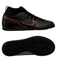 Nike Mercurial Superfly 7 Club IC Black X Chile Red - Schwarz/Chile Red/Dark Smoke Grey Kinder