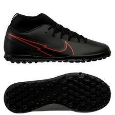 Nike Mercurial Superfly 7 Club TF Black X Chile Red - Sort/Rød/Grå Børn