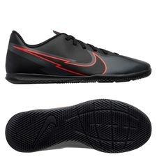 Nike Mercurial Vapor 13 Club IC Black X Chile Red - Schwarz/Chile Red/Dark Smoke Grey Kinder