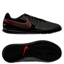 Nike Tiempo Legend 8 Club IC Black X Chile Red - Schwarz/Chile Red/Dark Smoke Grey Kinder