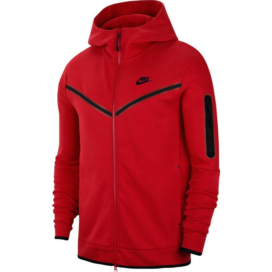 Nike Hoodie Nsw Tech Fleece University Red Black Www Unisportstore Com