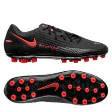 Nike Phantom GT Academy AG Black X Chile Red - Sort/Rød/Grå