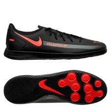 Nike Phantom GT Club IC Black X Chile Red - Sort/Rød/Grå