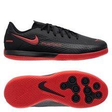 Nike Phantom GT Academy IC Black X Chile Red - Schwarz/Chile Red/Dark Smoke Grey Kinder