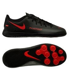 Nike Phantom GT Club IC Black X Chile Red - Schwarz/Chile Red/Dark Smoke Grey Kinder