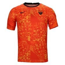 Roma Tränings T-Shirt Pre Match - Orange/Svart Barn
