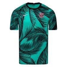 Barcelona Tränings T-Shirt Pre Match - Grön/Svart/Rosa Barn