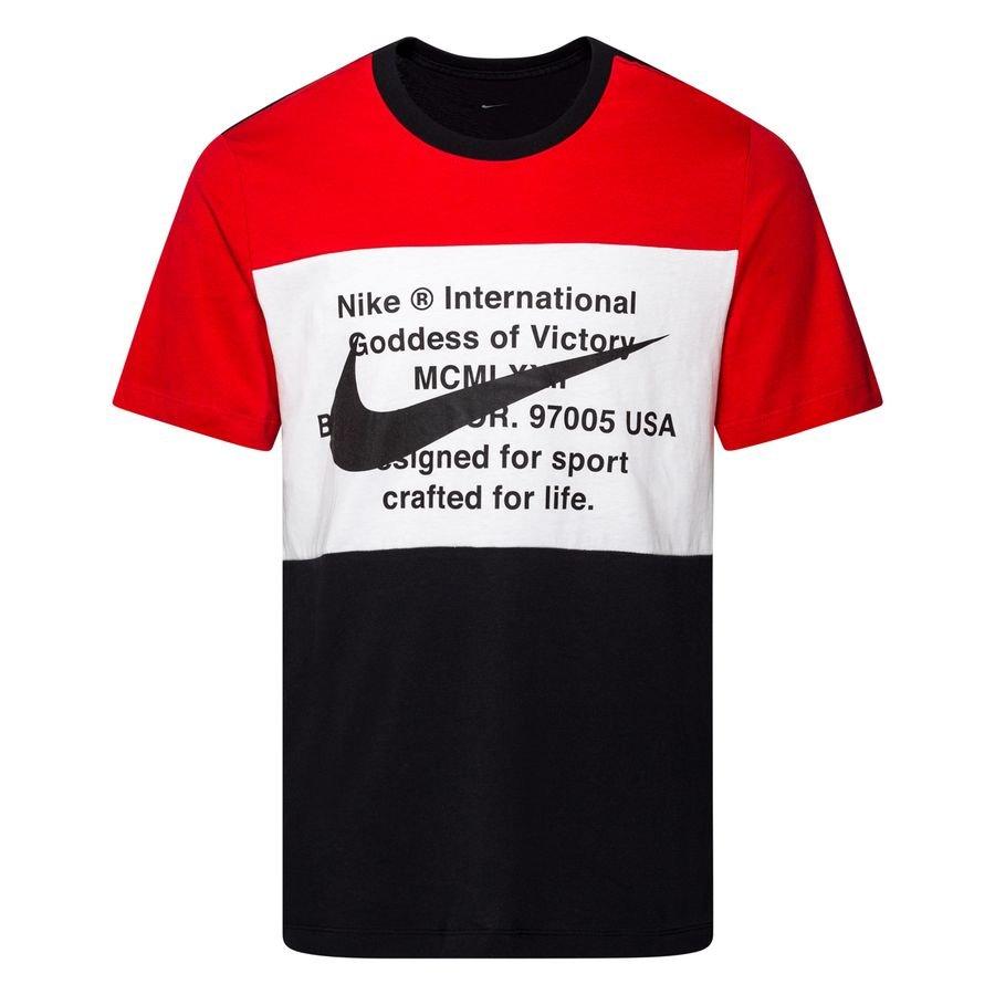 Nike T Shirt NSW Swoosh NoirRougeBlanc