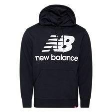 New Balance Hoodie Essentials Stacked Logo - Schwarz/Weiß