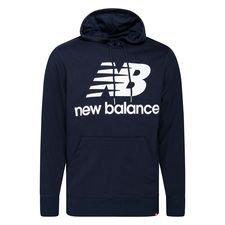 New Balance Hoodie Essentials Stacked Logo - Navy/Weiß