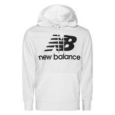 New Balance Hoodie Essentials Stacked Logo - Weiß/Schwarz