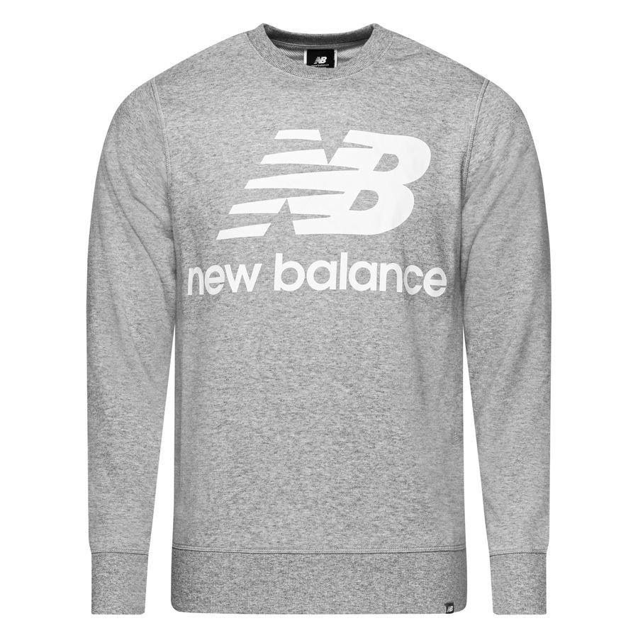 New Balance Essentials Crewneck Logo - Grå/Vit