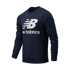 New Balance Essentials Crewneck Logo - Navy/Weiß