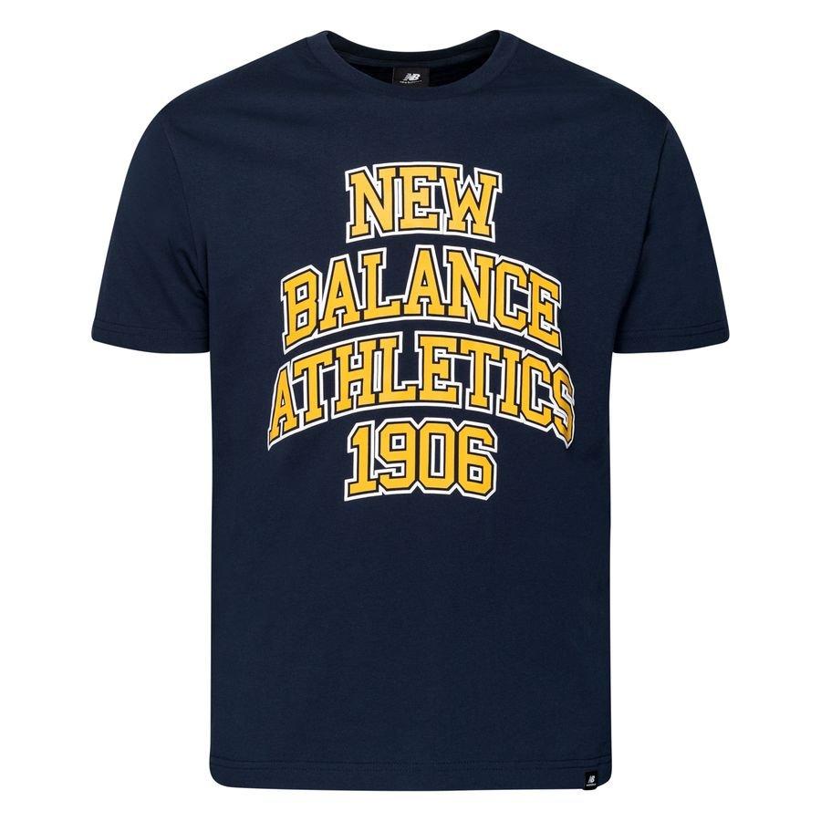 New Balance T-Shirt Athletics Varsity Pack - Navy/Gul