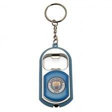 Manchester City Flasköppnare & Nyckelring - Blå
