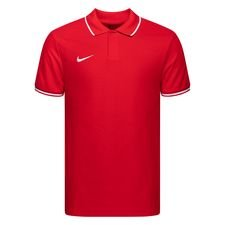 Nike Polo Team Club 19 - Rot/Weiß