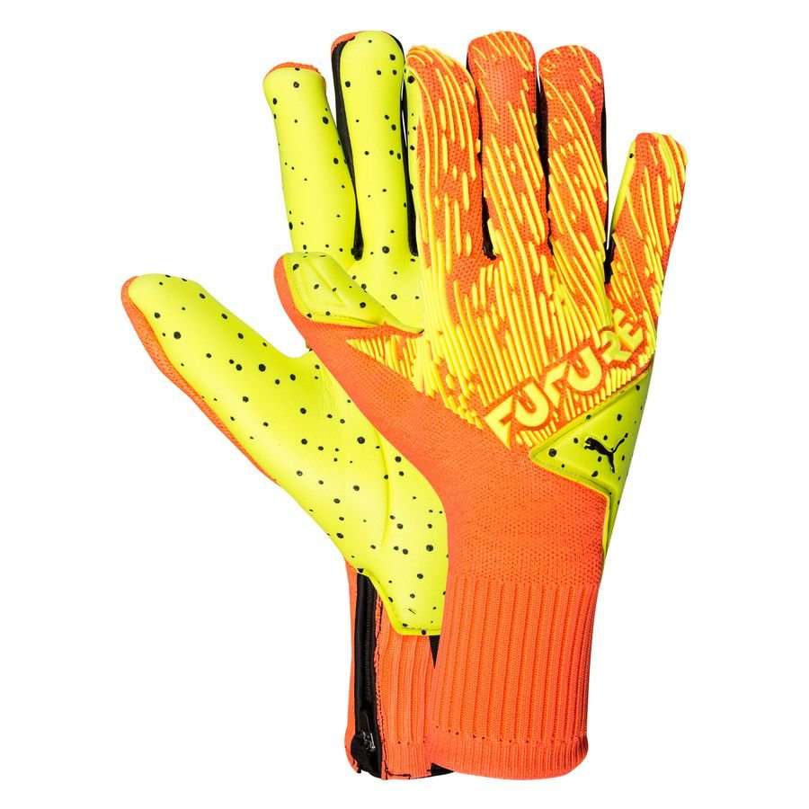 PUMA Goalkeeper Gloves Future Grip 5.1 Hybrid Rise - Energy Peach/Yellow  Alert