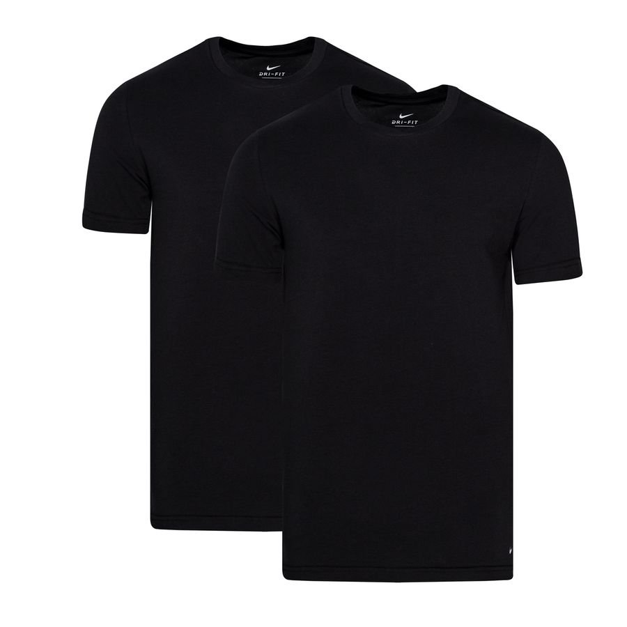 Nike T-Shirt Crew Neck Underwear 2-Pak - Sort thumbnail