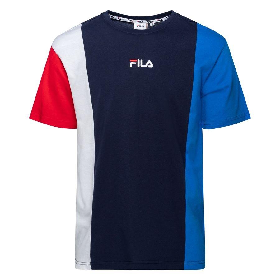 FILA T-Shirt Saint - Blå/Hvid/Rød thumbnail