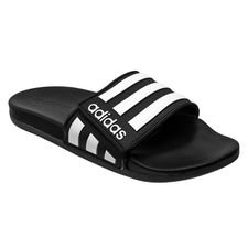 adidas Badelatschen adilette Comfort Adjustable - Schwarz/Weiß/Grey Six