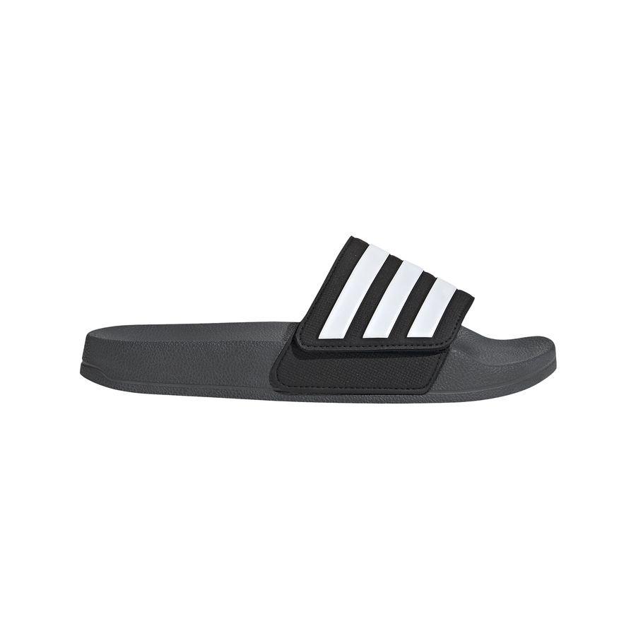 adidas Badesandal adilette Shower Justerbar - Grå/Hvid thumbnail