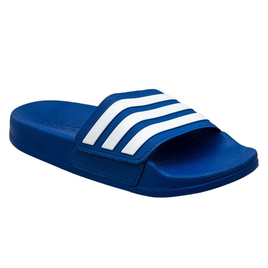 adidas Badesandal adilette Shower Justerbar - Blå/Hvid Børn thumbnail