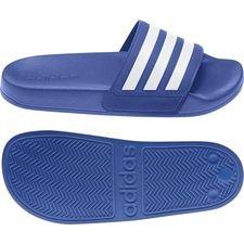 adidas Badelatschen adilette Shower Adjustable - Blau/Weiß Kinder