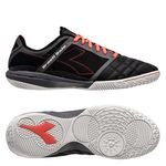 Diadora Brasil Sala IN - Black/Fluo Red