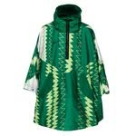 Nigeria NSW Rain Jacket Poncho - Pine Green/Lime/Pure Platinum/Black
