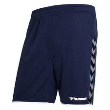 Hummel Shorts Authentic Poly - Navy/Weiß Kinder
