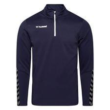 Hummel Trainingsshirt Authentic 1/2 Zip - Navy/Weiß Kinder