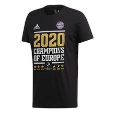 Bayern München Champions Of Europe 2020 T-Shirt - Svart/Vit FÖRBESTÄLLNING