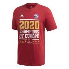 Bayern München Champions Of Europe 2020 T-Shirt - Röd/Vit