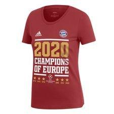 Bayern München Champions Of Europe 2020 T-Shirt - Röd/Vit Dam